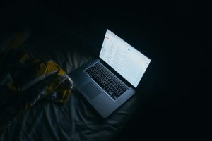 screen in dark